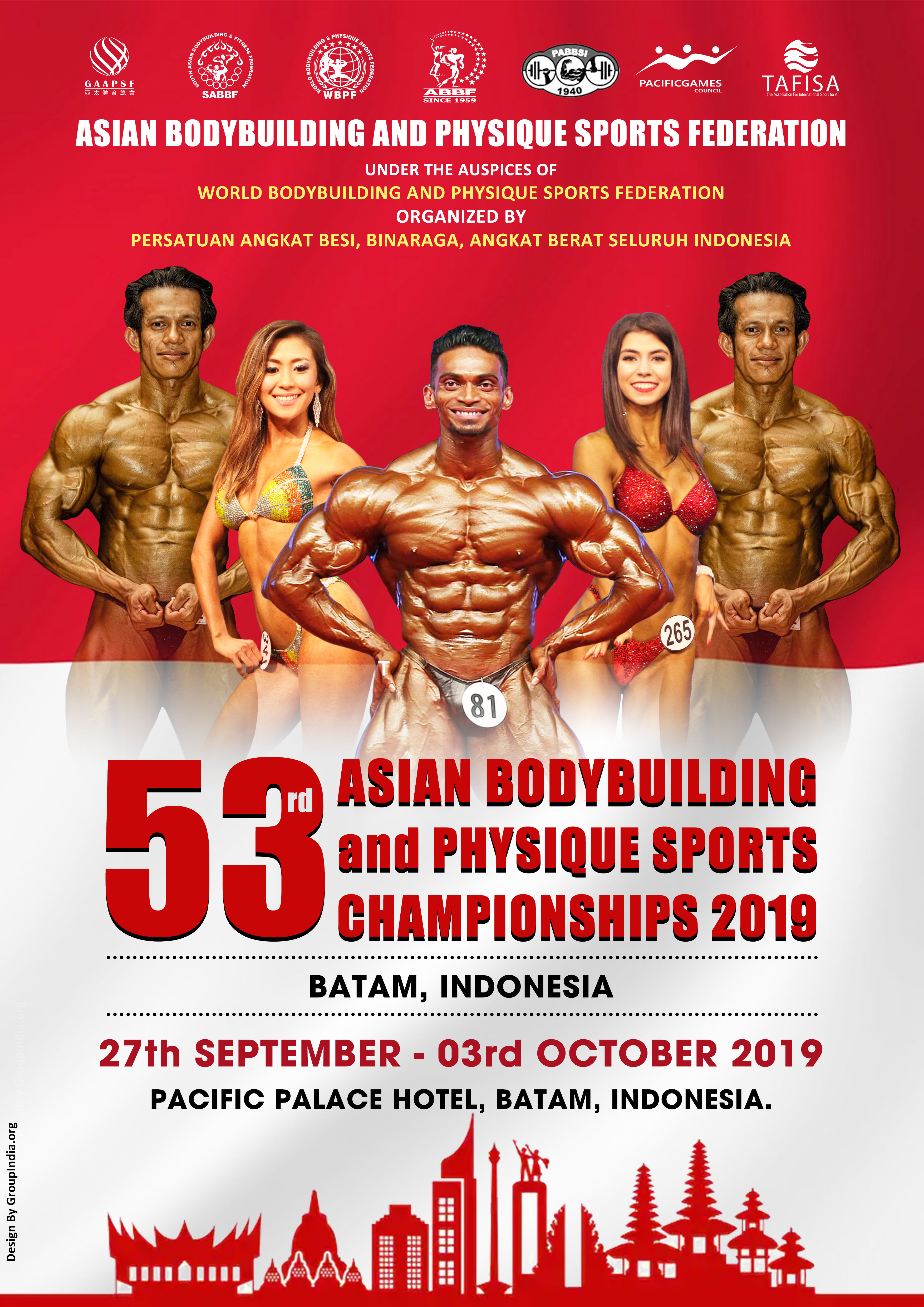 53 Asian Bodybuilding & Physique Sports Championship 2019