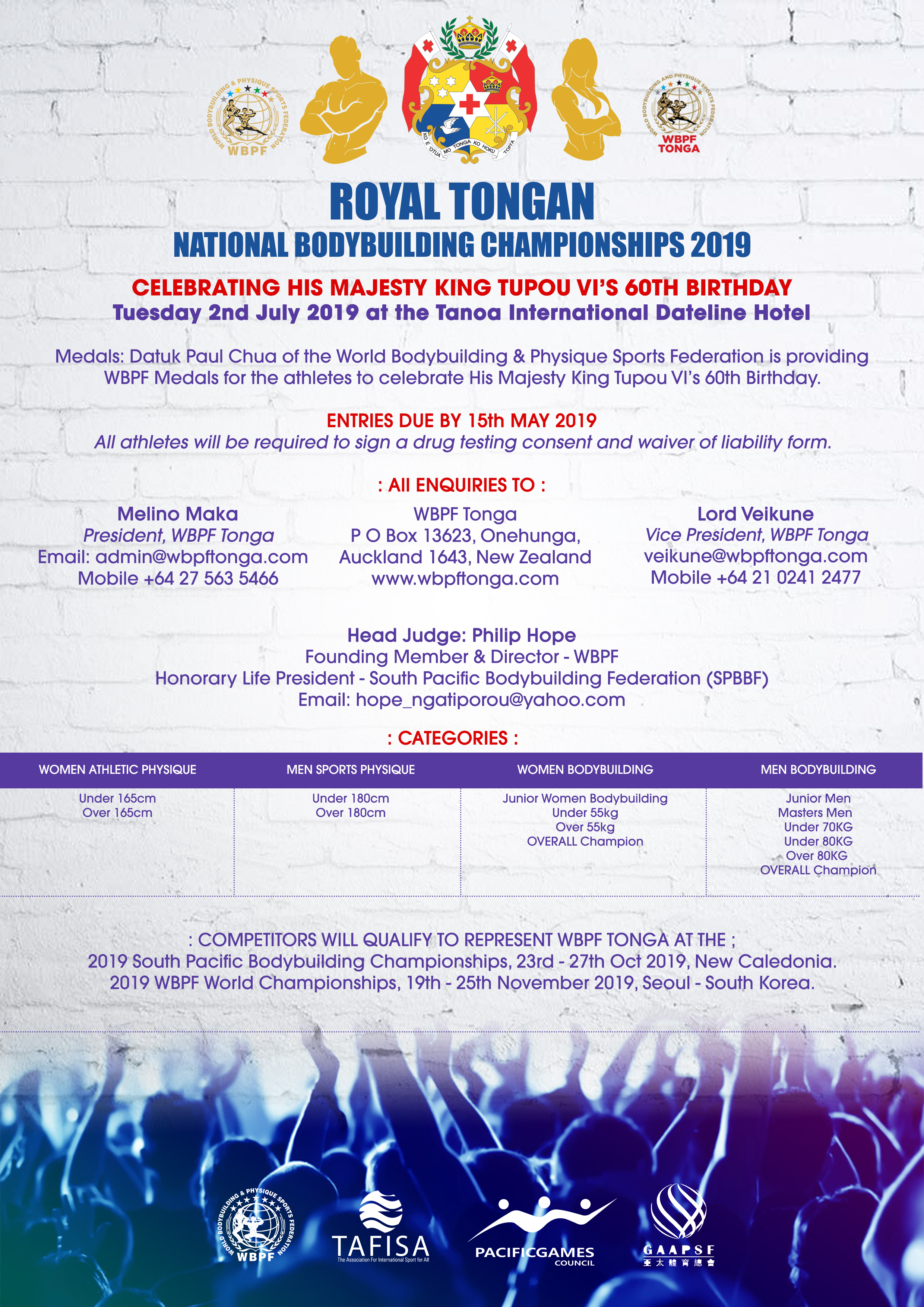 Royal Tongan National Bodybuilding Championship 2019