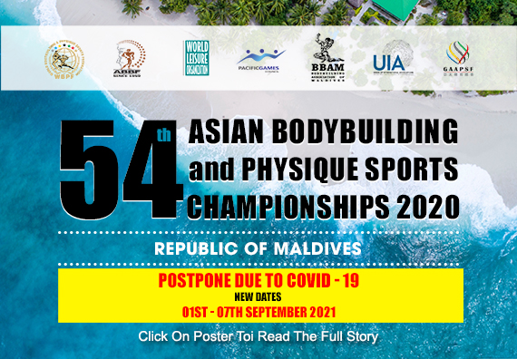 54th Asian Bodybuilding And Physique Sports Championships 2020...