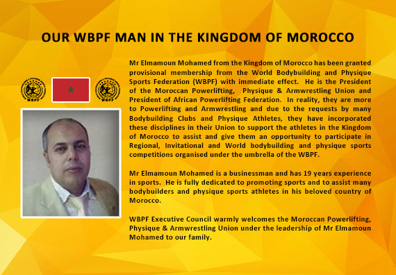 OUR WBPF MAN IN THE KINGDOM OF MOROCCO